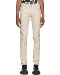 Naked & Famous - Off-white Natural Seed Super Guy Jeans - Lyst