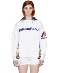 DSquared² - White K-way Edition Cool Fit Hoodie - Lyst