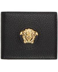 Versace - Black Large Medusa Wallet - Lyst
