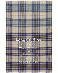 Acne Studios - Brown Cassiar Check Scarf - Lyst