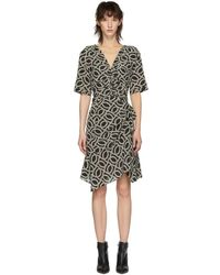 Isabel Marant - Black And Off-white Arodie Dress - Lyst