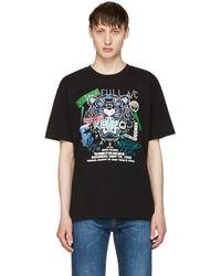 KENZO | Black 'tiger X Flyer' T-shirt | Lyst