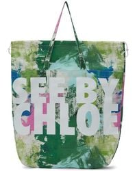 See By Chloé - Multicolor Logo Paint Tote - Lyst