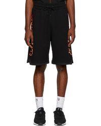 Marcelo Burlon - Black Flame Sweat Shorts - Lyst
