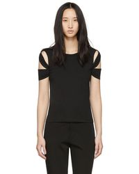 Helmut Lang - Black Bondage Sleeve T-shirt - Lyst