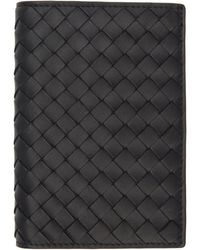 Bottega Veneta - Black Intrecciato Passport Holder - Lyst