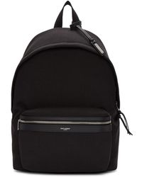 Saint Laurent - Black Canvas City Backpack - Lyst