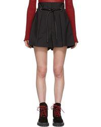 3.1 Phillip Lim - Black Origami Pleated Shorts - Lyst