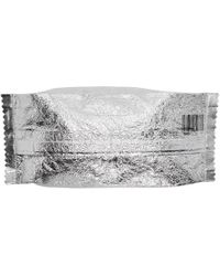 MM6 by Maison Martin Margiela - Silver Large Candy Wrapper Pouch - Lyst