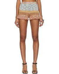Missoni - Multicolor Knit Linen Shorts - Lyst