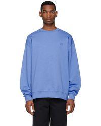 Acne Studios - Blue Oversized Fairview Face Sweatshirt - Lyst