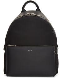Fendi | Black Tapestry Strap Backpack | Lyst
