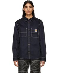 Carhartt WIP - Navy Chalk Shirt - Lyst