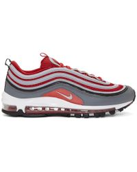 Nike - Red And Grey Air Max 97 Sneakers - Lyst
