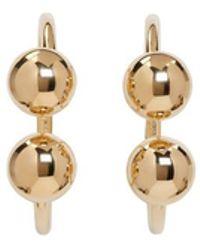 J.W.Anderson - Gold Double Ball Hoop Earrings - Lyst