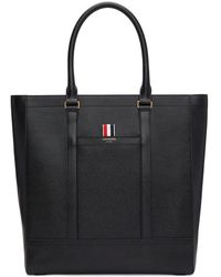 Thom Browne - Pebbled-leather Tote - Lyst