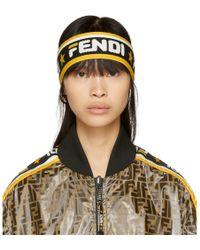 Fendi - Black And White Mania Headband - Lyst