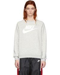 Nike - Grey Nsw Rally Sweatshirt - Lyst