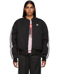 adidas Originals - Black Bomber Jacket - Lyst