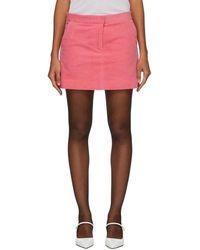 Ashley Williams - Pink Corduroy Executive Miniskirt - Lyst