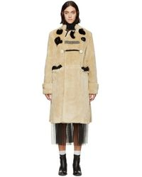 Toga - Beige Patchwork Bear Coat - Lyst