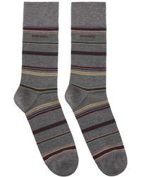 BOSS - Grey Multistripe Socks - Lyst