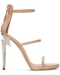 Giuseppe Zanotti - Pink Three-strap G-heel Sandals - Lyst