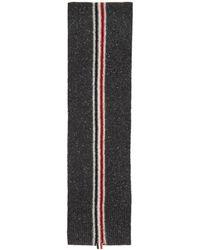 Thom Browne - Grey Mohair Intarsia Stripe Scarf - Lyst
