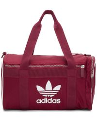 adidas Originals - Burgundy Medium Duffle Bag - Lyst