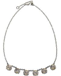 Bottega Veneta - Silver And Yellow Cubic Zirconia Necklace - Lyst