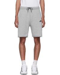 Nike - Gray Tech Fleece Shorts - Lyst