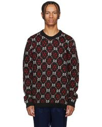 Gucci - Black And Red Gg Logo Jumper - Lyst