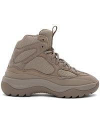 Yeezy - Grey Desert Boot - Lyst