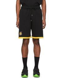 Marcelo Burlon - Black Nba Edition Lakers Shorts - Lyst