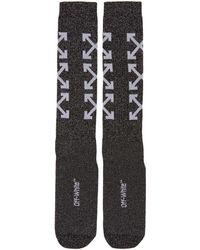 Off-White c/o Virgil Abloh - Black Arrows Long Socks - Lyst