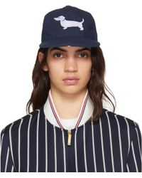 Thom Browne | Navy Hector Icon Five-panel Baseball Cap | Lyst