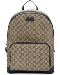 e819d78293b Lyst - Gucci Black Rubber Ssima Leather Backpack in Black for Men
