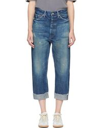 Chimala - Indigo Selvedge Wide Tapered Cut Jeans - Lyst