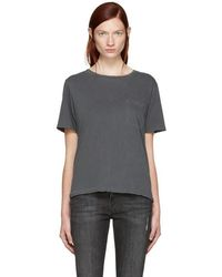 AMO - Grey Tomboy Pocket T-shirt - Lyst
