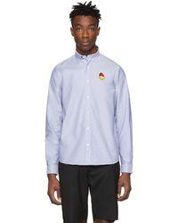 AMI - Blue Smiley Edition Oxford Shirt - Lyst
