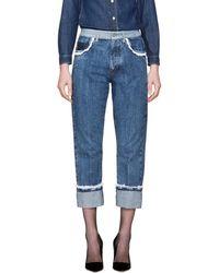 Miu Miu - Indigo Lace Straight Boyfriend Jeans - Lyst