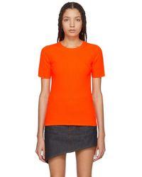 Helmut Lang - Orange Essential Pullover - Lyst