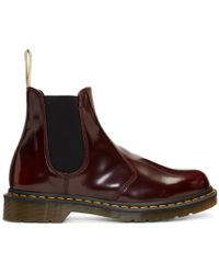 Dr. Martens - Red 2976 Vegan Chelsea Boots - Lyst