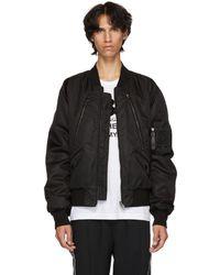 Dolce & Gabbana - Reversible Black Bomber Jacket - Lyst