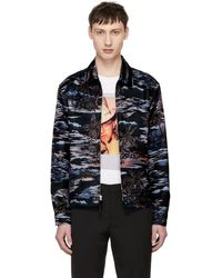 COACH - Black Hawaiian Printed Jacket - Lyst