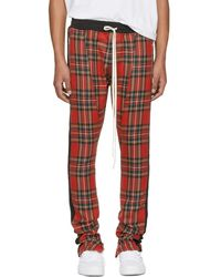 Fear Of God - Red Tartan Plaid Drawstring Trousers - Lyst