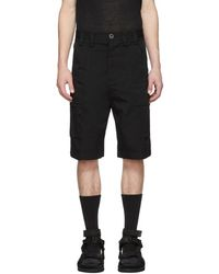 Song For The Mute - Black Bucket Cargo Shorts - Lyst