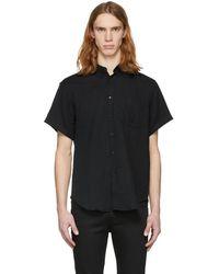Naked & Famous | Black Short Sleeve Gauze Shirt | Lyst