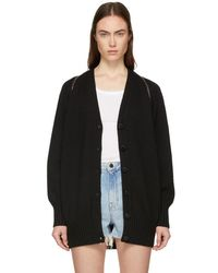 Alexander Wang - Black Splittable Zip Cardigan - Lyst