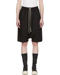 Rick Owens Drkshdw | Black Pod Knee-length Shorts | Lyst